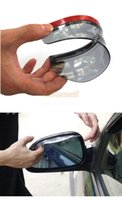 Wholesale 2pcs pair Car universal Rrain Shield Flexible Peucine Car Rear Mirror Guard Rearview mirror Rain Shade