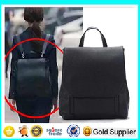 backpack park - 2015 Korean Drama Pinocchio Actress Student School Bag Park Shin Hye Same Design Black PU Backpack Girls Daily Pack Travel Bag