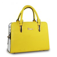 Wholesale Women Leather Handbags Waterproof All match Shoulder Bags Candy Color Women Messenger Bags