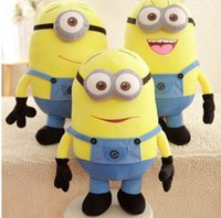 Wholesale Hot Cheap Minion Despicable Me Eyes Yellow Kid Birthday Gift Children Plush Stuffed Toys Doll Big Size Little Girls Gift cm inch MYF13