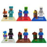 Wholesale Minecraft Steve Zombie Skeleton Enderman Minifigures Building Blocks Sets Model Toys Figures Bricks Toy For Children