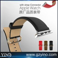 Wholesale HOCO WatchBand For Apple Watch Strap Genuine Leather Wrist Band Strap For iWatch Edition mm mm With Strap Adapter Connector
