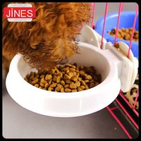 Wholesale 2 Pet Products Dog essentials Hanging Fixed Cage Dog Cat Bowl High quality Cage Pet Feeding Bowls Watering Supplies