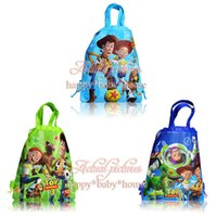 bag stories - Cute New Hot Sale Toy Story Non woven Fabric Children Drawstring Backpack School Bags Without handle cm Party Favors