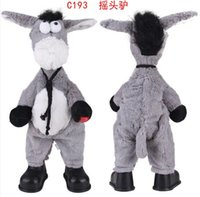 Wholesale 2014 Most popular Electronic pet plush donkey can dance sing shook his head electric donkey rock donkey plush toys