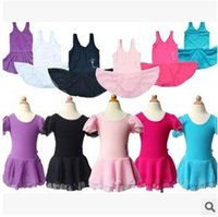 Wholesale 4 colors Flower Girl Ballet Dress Children Girl Dance Clothing Kids Ballet Costumes Girls Dance Leotard Girl Dancewear Dress LJJC1564