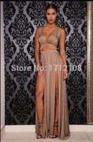 ball bandage - vestido longo sexy long maxi dress women formal sexy hollow out club dresses new arrival bandage ball gown dress Q327