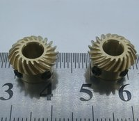 bevel gear differential - Diameter mm Hole d mm M Teeths Copper Spiral helical bevel gear combination modified car model differential