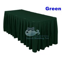 Wholesale Hunter Green Color Poly Table Skirt For Round And Rectangular Table Pleated Table Skirting