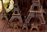 Wholesale 25cm Home Decoration Vintage Bronze Tone French Paris D Eiffel Tower Fit For Office Desk Ornament Metal Craft Arts jk4010