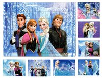 Wholesale 70 New Frozen Puzzles Kids Puzzles Elsa Anna Puzzle Children s Educational Toys Gift