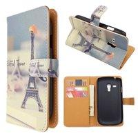 Cheap Eiffel Tower Leather Wallet Case Best i8190 Wallet Case
