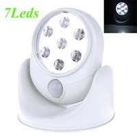Wholesale White Sensor Light Cordless Motion Activated Wall Lamps V LEDS Porch Lights Degree Rotation Light
