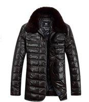 Wholesale Authentic Septwolves Men s Clothing Genuine Leather Down Jacket Fox Fur Collar Sheepskin Jacket Outerwear tk0871