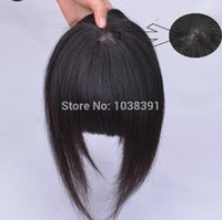 Wholesale Simulation Scalp Bang Hair Clip In Bangs Clip In Fringe Seamless Bangs With Centers hand woven Extension Hair g