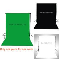 1pc 3 * 3.6m / 10 * 12 pies de la pantalla de fondo la fotografía de la muselina Video Foto Estudio de iluminación de fondo de pista de algodón para $ 18Nadie