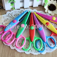 Wholesale Laces Sawtooth Scissors Photo Pattern Manual Scissor Whales Jagged Stationery