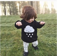 kids winter sweater - crochet baby sweaters INS HOT Baby Girl Boy Sweaters kids cloth Long Sleeve Clouds Rain Knitted Lovely Children Top Clothes kids pullover
