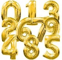 big lots delivery - 50pcs wholesales inch cm Big size foil number balloon Party balloon Wedding balloon gold color Free delivery