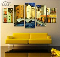 abstract paintings association - New style handpainted art brief abstract decoration oil painting living room studio five association combinations