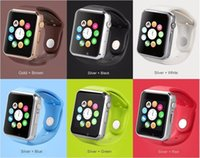 Wholesale 2015 New WristWatch A1 G08 W8 Bluetooth smart watch sport Pedometer anti hilang Smartwatch for IOS and Android Smartphone With SIM colors