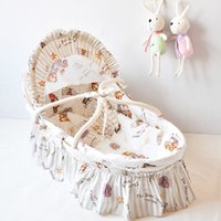 Wholesale 11 Optional Colors Newborn Baby Cradles Portable Hand held Baby Carry Cot Crib Lightweight Health Baby Basket Retail