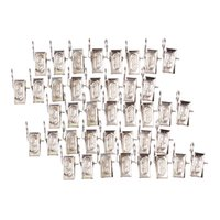 Wholesale 40pcs Stainless Steel Curtain Rod Clip Rings Drapery Clips