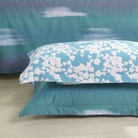 Wholesale Best Sell Bedding Set Powder Blue Floral Bed Sheet Cotton Quilt Woven Printed Duvet Cover Comforter Twin Full Queen King