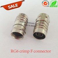 Wholesale 50pcs RG6 Crimp F Connector Hex Crimp F type Connector for RG6 Crimp On RG6 F Connector O Ring Silicone Filled RF adapter plug