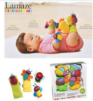 Wholesale Baby lamaze high contrast garden Bug wrist quot kaka quot girl boys and girls ladybug bee toy gifts BY0000