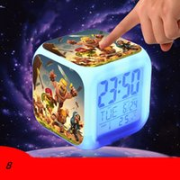 action calendar - Clash of Clans Alarm Clock Cartoon Game Action Figures Night Glowing Electronic Clock Touch Color Change Clock Brinquedos Eletronicos SK352