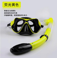 Wholesale Hot Tempered Diving Snorkeling Scuba Face Masks Swimming Sets Goggles Adult Kids Silicone scuba snorkeling kit diving equipment