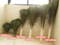 Wholesale New Cheap CM Natural Beatiful Peacock eye Feathers Tail Long for Bouquet DIY Party Decor