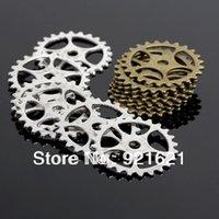Wholesale 25MM Gear Charms Steampunk Gears Charm Pendants Vintage Charme Metal Alloy Jewelry Findings D0216