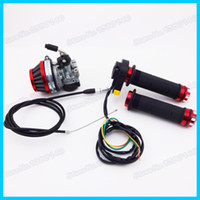 air filter switch - Red Racing Carburetor Carb Hand Handle Grips Air Filter Throttle Cable Stop Kill Switch For cc cc cc Motorized Bicycle order lt no tra