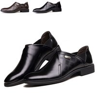 comfortable formal shoes - New Arrival Men Shoes Pointed Toe Slip On Formal Business Leather Shoes Comfortable Men Dress Shoes Size TA0152
