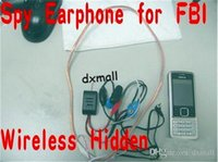 Wholesale 2015 NEWEST Wireless mini Hidden mobile Phone Earpiece FBI earphone Mini Earphone Mini Earphone Free by DHL
