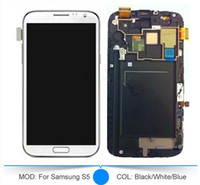 cell phone mobile spare parts - For Samsung Galaxy S5 S4 S3 S2 LCD Screen With Frame Touch Screen Assembly Cell Phone LCD Touch Panels Mobile Spare Parts Free