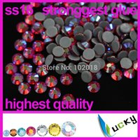 Wholesale A Quality hotfix rhinestone copy Swarov DMC ss16 mm Red Siam AB Heat strass crystal for iron on transfer
