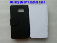 Wholesale For samsung galaxy S6 DIY Sublimation Flip leather blank case