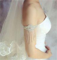 arm beach - Sparking Beading Wedding Bridal Arm Chain Crystal bride Jewelry Rhinestone Spring Beach Wedding Accessories