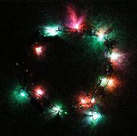 Wholesale 200 BBA4822 hotsale Led Necklace Necklaces Flashing Beaded Light Toys Christmas gift lighted necklace LED Pendant Flash Luminous necklace