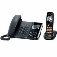 Wholesale KX TG Line DECT Expandable Digital Corded Cordless Answering System Phone Two Line Double Pack Telephone