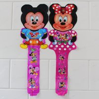 ballon sticks - cm minnie and mickey mouse cheering stick cartoon design ballon for mickey theme party decoration