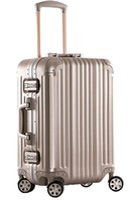 Wholesale Business Aluminum Magnesium Luggage Inch Hi Tech Aluminum Carry On Spinner Upright With Tsa Locks