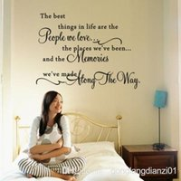 best living room - The Best Things In Life Wall Quote Sticker Vinyl Art Words Decal Home Decor DIY