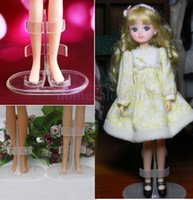 Wholesale Barbie Doll White Stand Display Holder Accessories For Original Barbie Doll