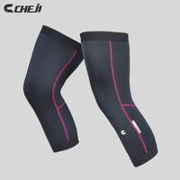 Wholesale Cheji Brand Pink Black Sleeves Bicycle Bike Legwarmers UV Warm Cycling Leggings Bicicleta Ciclismo Ropas Leg Warmers