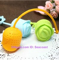 herbal tea bags - 1000pcs Cute Silicone Rose Rose shaped Flower Tea Ball Bag Filter Herbal Spice Tea Infuser