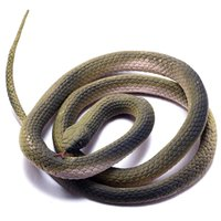 Wholesale 48 quot cm Lifelike Fake Rubber Snake Realistic Reptiles Scary Prank Toys Practical Joke Gifts